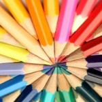 stock-footage-several-color-pencils-turning-on-their-own-background
